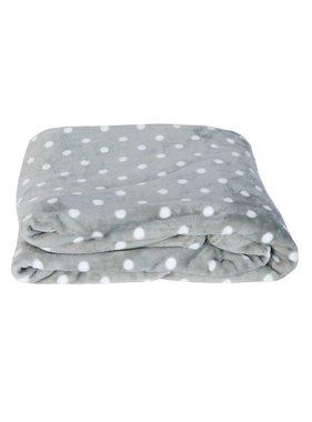 Clayre & Eef Plaid Dots 210 x 160 cm grijs