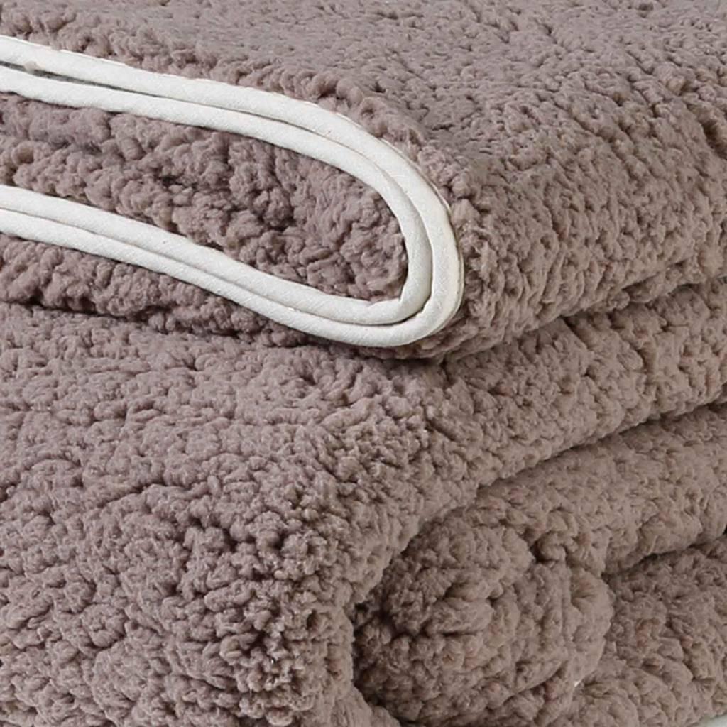 dutch decor sierkussens & plaids plaid Garan 130x180 cm taupe