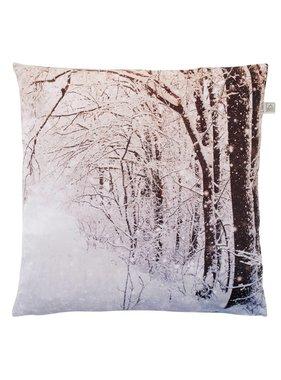 dutch decor sierkussens & plaids Sierkussen / sierkussens Snow 45x45 cm licht grijs