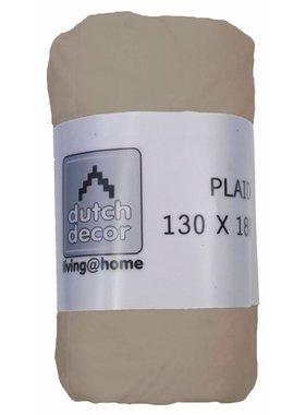 dutch decor sierkussens & plaids plaid Velvet 130x180 cm kiezel