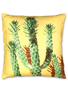 Unique Living Sierkussen / sierkussens Cactus 45x45cm geel