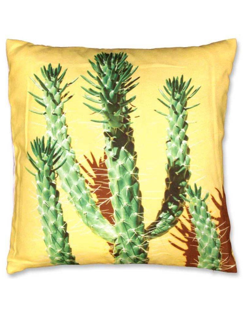 Unique Living sierkussens & plaids sierkussen Cactus 45x45cm geel