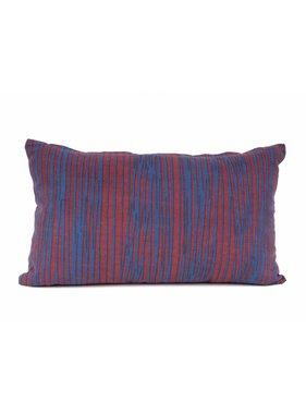 pt, Sierkussen / sierkussens Oblique Lines burgundy rood en donker blauw