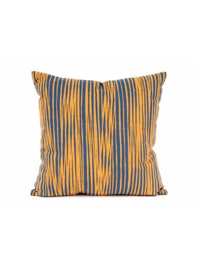 pt, Sierkussen / sierkussens Oblique Lines donker blauw en curry geel vk