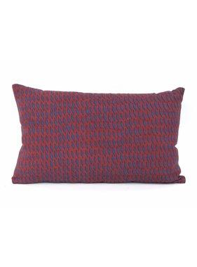 pt, Sierkussen / sierkussens Tuned Mesh donker blauw en burgundy rood