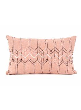 pt, Sierkussen / sierkussens Stitched Flow dusty roze en donker blauw