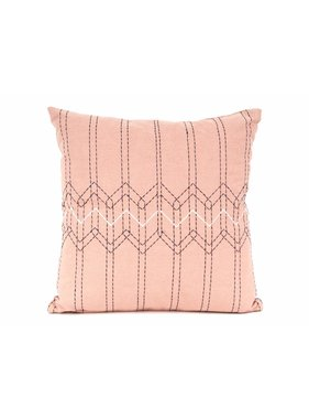 pt, Sierkussen / sierkussens Stitched Flow dusty roze en donker blauw vk