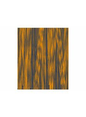 pt, Plaid Oblique Lines 150 x180 cm donker bl.,curry geel