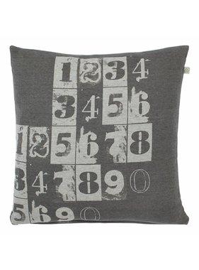 dutch decor sierkussens & plaids Sierkussen / sierkussens  Tommie 45x45 cm donker grijs