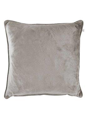 dutch decor sierkussens & plaids Sierkussen / sierkussens  Velvet 45x45 cm licht grijs
