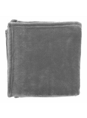 dutch decor sierkussens & plaids plaid Flanel 150x200 cm donker grijs