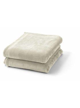 dutch decor sierkussens & plaids plaid Flanel 150x200 cm ivoor