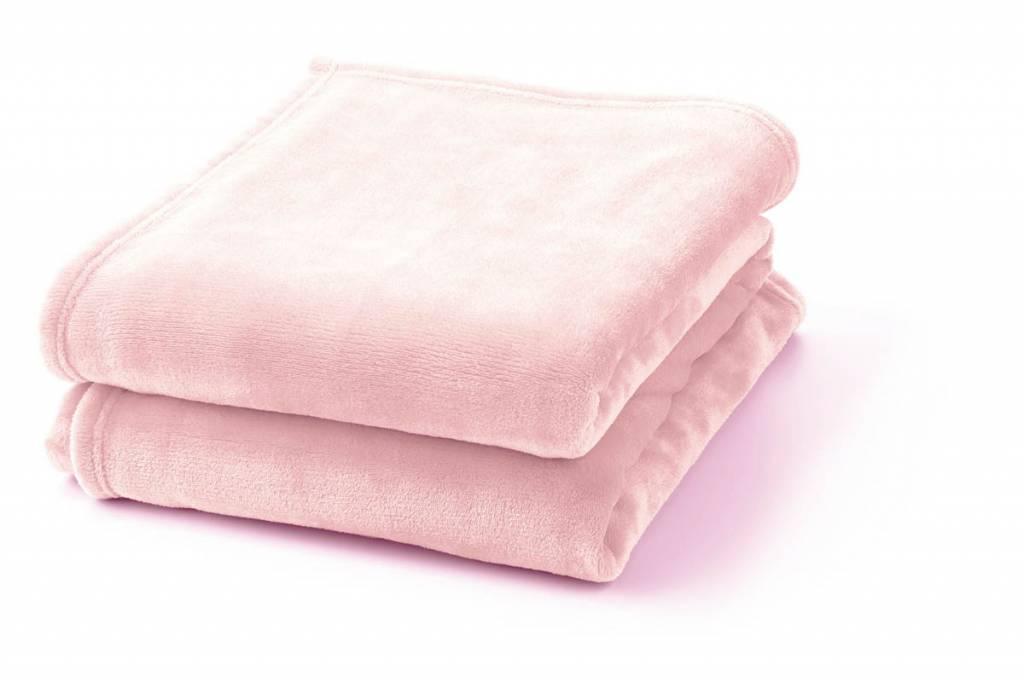dutch decor sierkussens & plaids plaid Flanel 150x200 cm roze