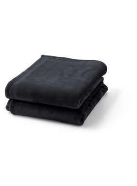 dutch decor sierkussens & plaids plaid Flanel 150x200 cm zwart