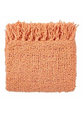 dutch decor sierkussens & plaids plaid Gusj 130x180 cm koraal