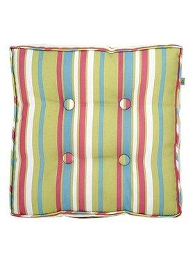 dutch decor sierkussens & plaids Tuinkussen Sunny 43x43x8cm streep kleur