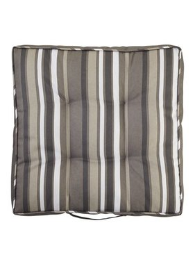 dutch decor sierkussens & plaids Tuinkussen Sunny 43x43x8cm streep naturel