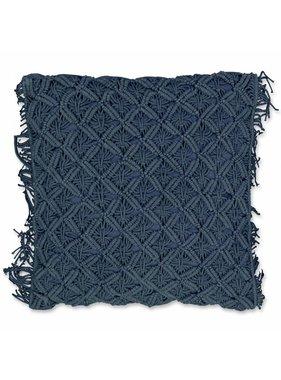 Unique Living sierkussens & plaids Sierkussen / sierkussens Dori 45x45cm copen blue