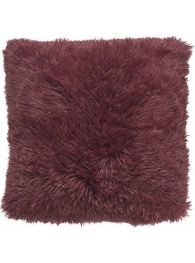 dutch decor sierkussens & plaids Sierkussen / sierkussens Fluffy 45x45 cm Bordeaux