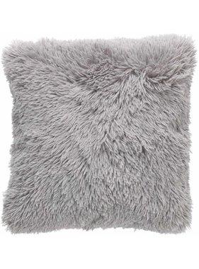 dutch decor sierkussens & plaids Sierkussen / sierkussens Fluffy 45x45 cm Middengrijs