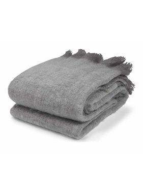 dutch decor sierkussens & plaids Plaid Rigga 130x180 cm donker grijs Donkergrijs