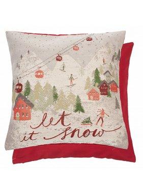 Clayre & Eef Sierkussen / sierkussens Let it snow  45 x 45 cm