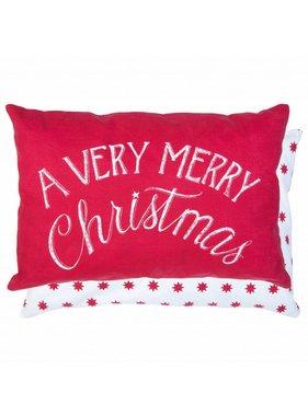 Clayre & Eef Sierkussen / sierkussens A very merry Christmas 35 x 50 cm