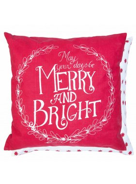 Clayre & Eef Kussenhoes Merry and Bright 50 x50 cm