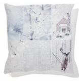 Clayre & Eef Kussenhoes Let it Snow 45 x 45 cm