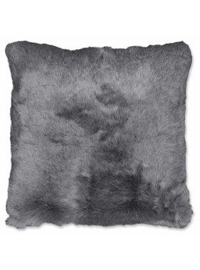 Unique Living sierkussens & plaids Sierkussen /sierkussens Seattle 45x45cm fake fur donker grijs