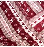 Unique Living sierkussens & plaids Plaid Winter 130x160cm rood