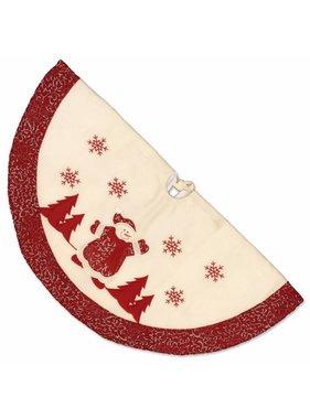 Unique Living sierkussens & plaids Kerstboomrok Riga Sneeuwman D 90 cm
