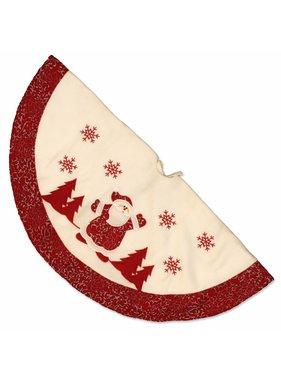 Unique Living sierkussens & plaids Kerstboomrok Riga Kerstman D 90 cm