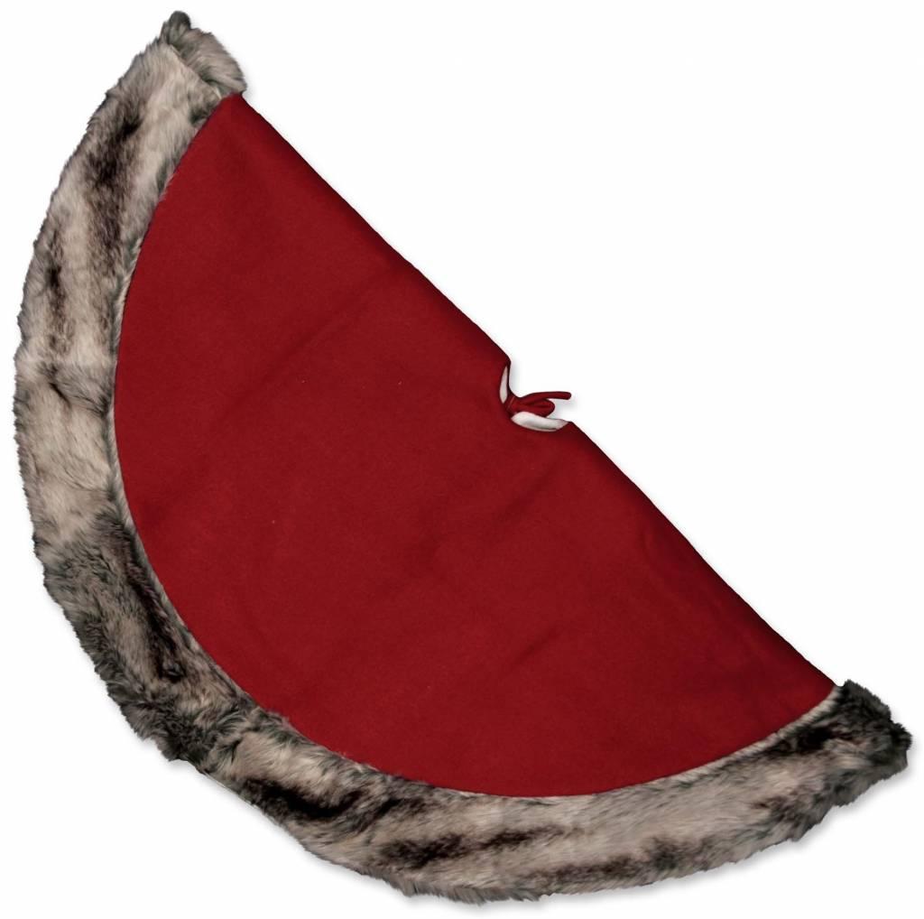 Unique Living sierkussens & plaids Kerstboomrok Cosy Xmas D 90cm rood