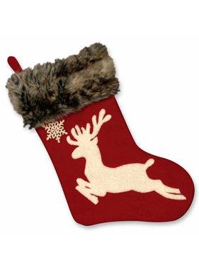 Unique Living sierkussens & plaids Kerstsok Rudolph rood