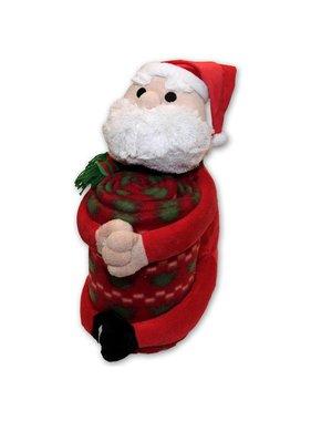 Plaid Kerstman knuffel 125 x150 cm