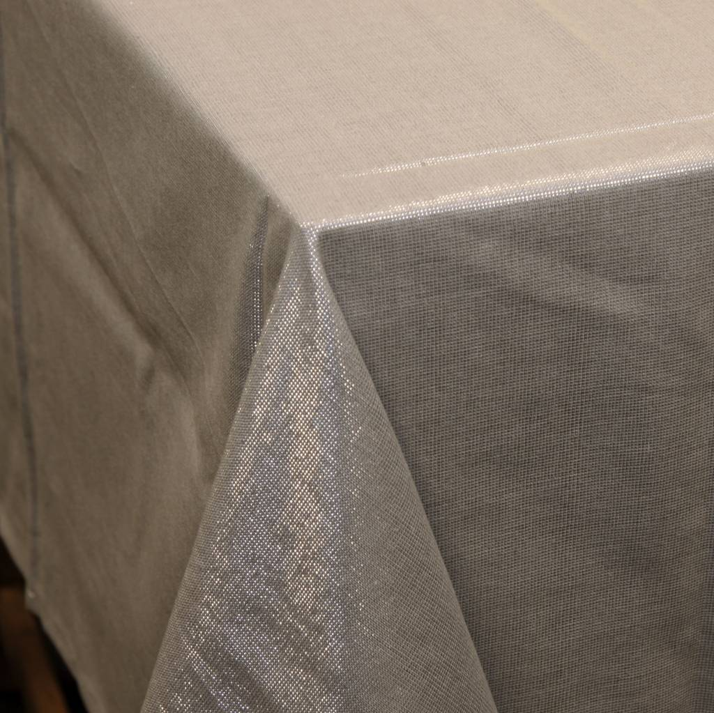 Unique Living sierkussens & plaids Tafelkleed Glamour grijs