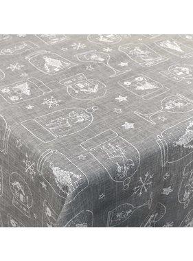 Unique Living sierkussens & plaids Tafelkleed Let it Snow grijs