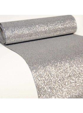 Unique Living sierkussens & plaids Tafelloper Dubai zilver