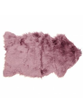 Unique Living sierkussens & plaids Decoratiebontje fake fur 60x100cm mesa rosa
