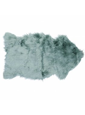 Unique Living sierkussens & plaids Decoratiebontje fake fur 60x100cm mineral blue
