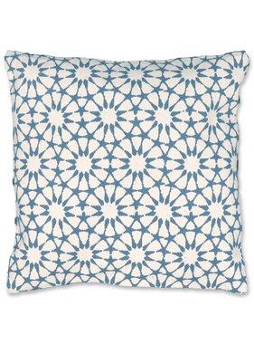 Unique Living sierkussens & plaids Sierkussen / sierkussens Opium 45x45 cm lake blue