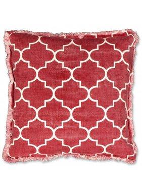 Unique Living sierkussens & plaids Sierkussen / sierkussens Matsoe 45x45 cm red