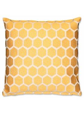 Unique Living sierkussens & plaids Sierkussen / sierkussens Bee 45x45 cm sunshine