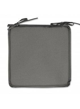 Unique Living sierkussens & plaids Tuinkussen plaat Outdoor 38x38x2,5cm dark grey