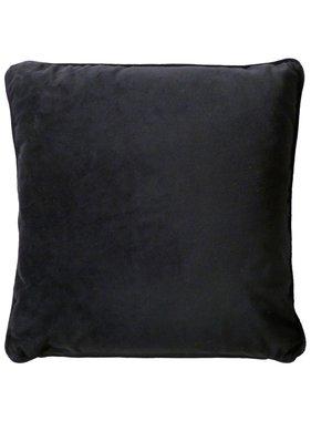 dutch decor sierkussens & plaids Sierkussen / sierkussens  Velvet 45x45 cm zwart