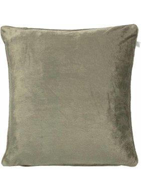 dutch decor sierkussens & plaids Sierkussen / sierkussens  Velvet 45x45 cm olijf