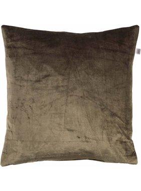 dutch decor sierkussens & plaids Kussenhoes Cido 45x45 cm olijf