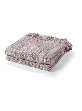 dutch decor sierkussens & plaids Plaid Sunil 130x180 cm taupe