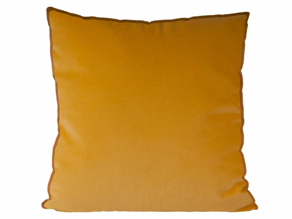 sierkussen Luxurious XL ochre yellow